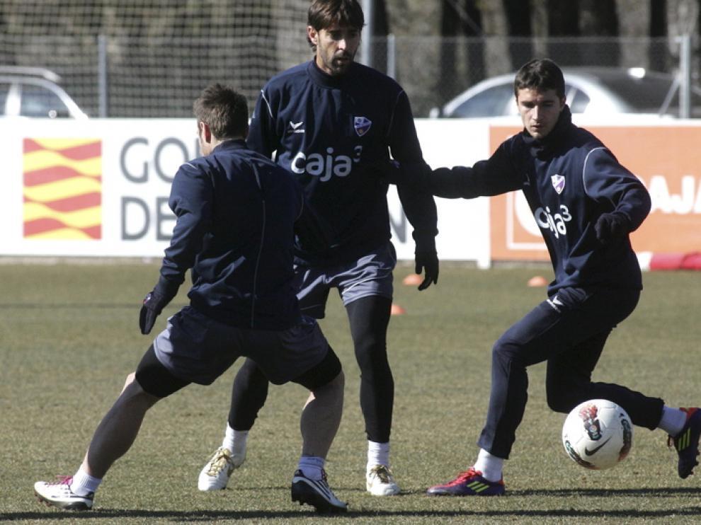Entrenamiento de la SD Huesca