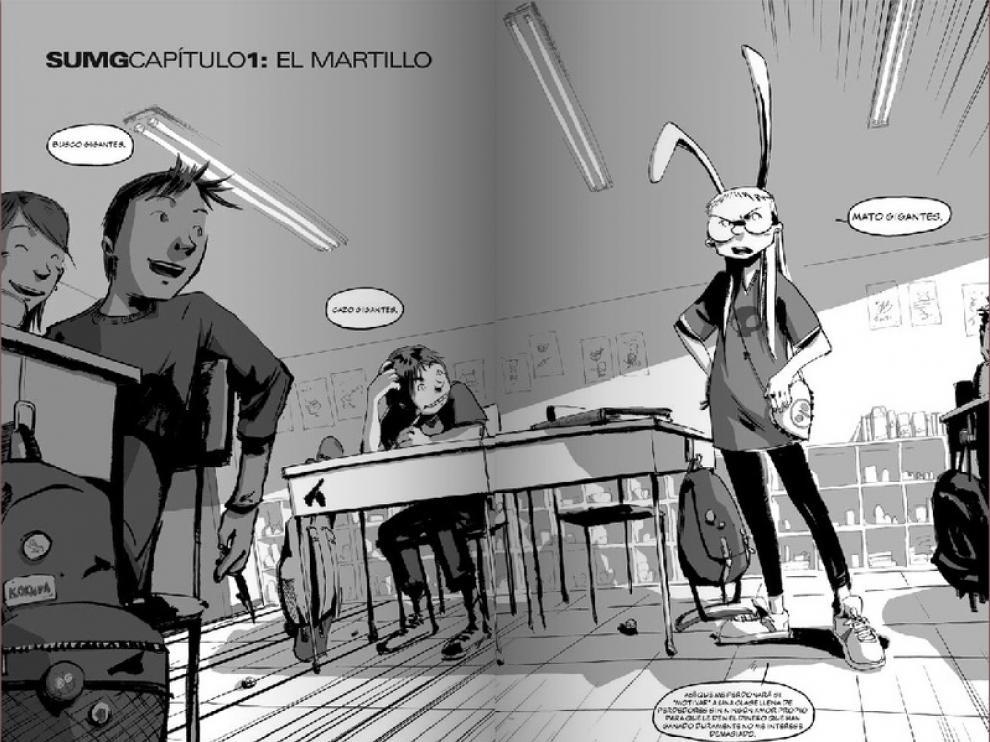Una de las primeras viñetas del cómic