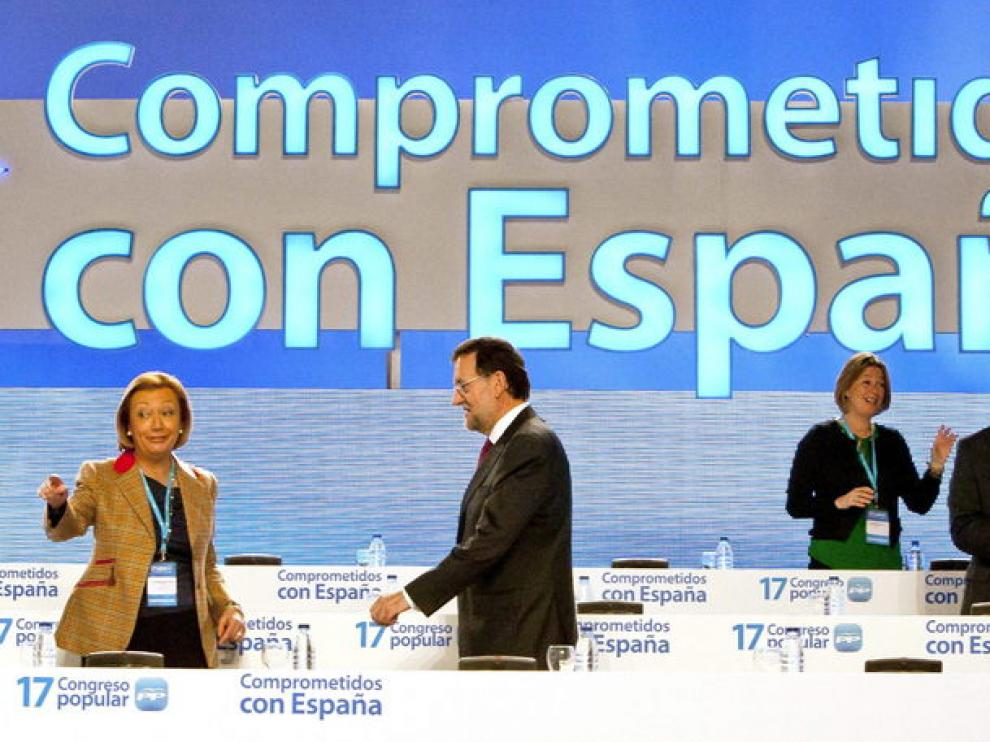 Rajoy llega al congreso del PP