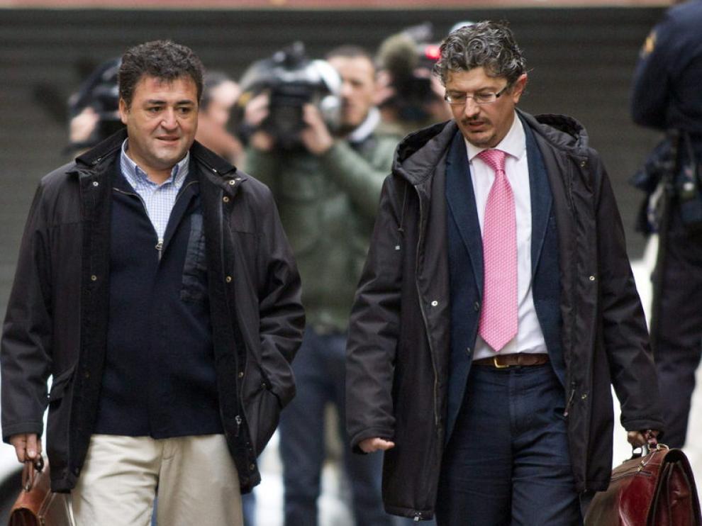 'Pepote' Ballester y su abogado, llegando al juzgado