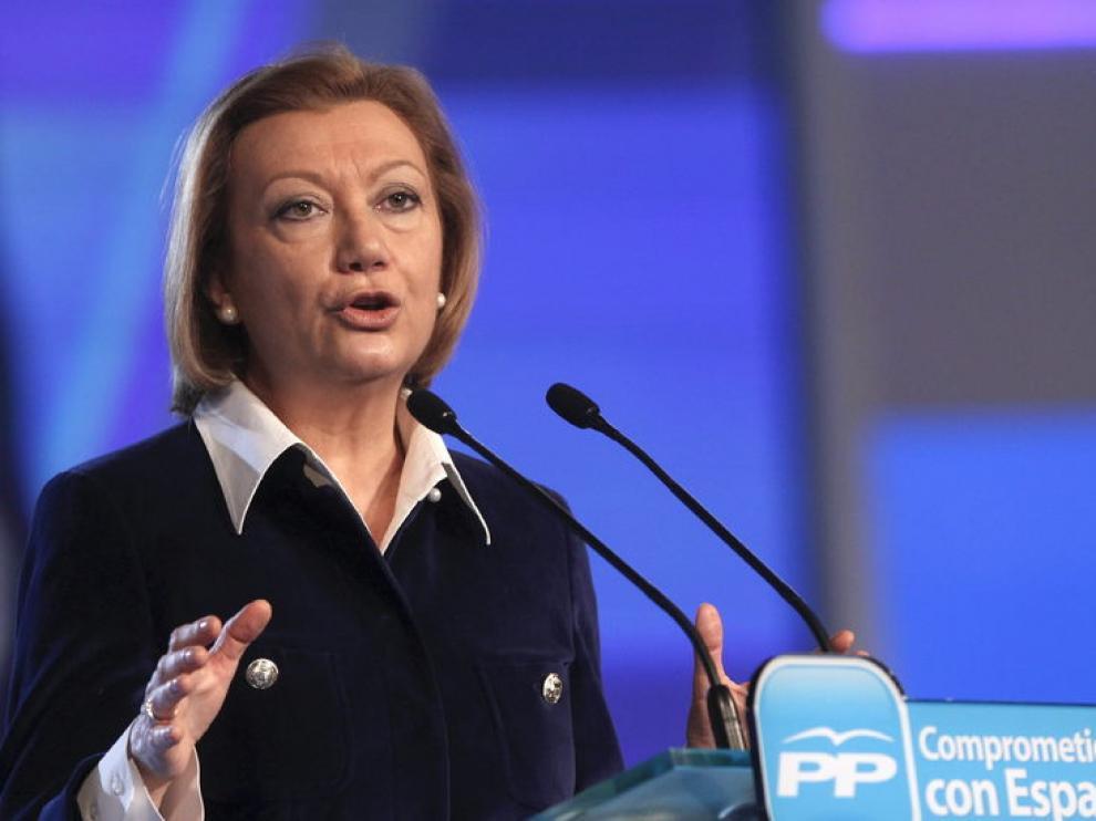 La presidencia de Aragón, Luisa Fernanda Rudi, durante su intervención