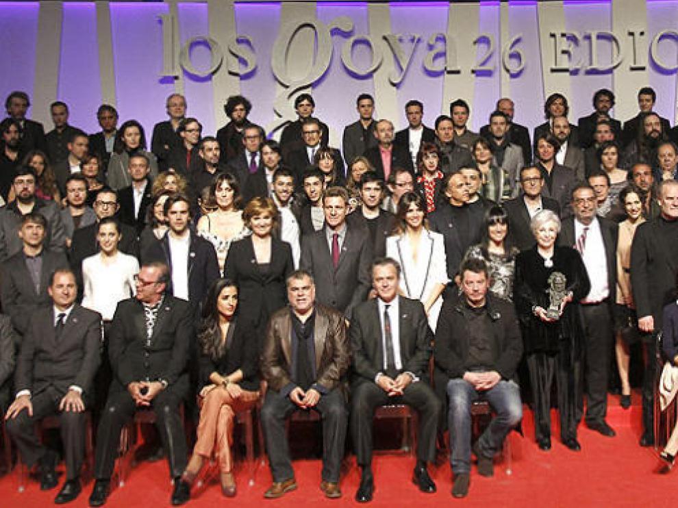 Imagen de los nominados a los Premios Goya de este año.
