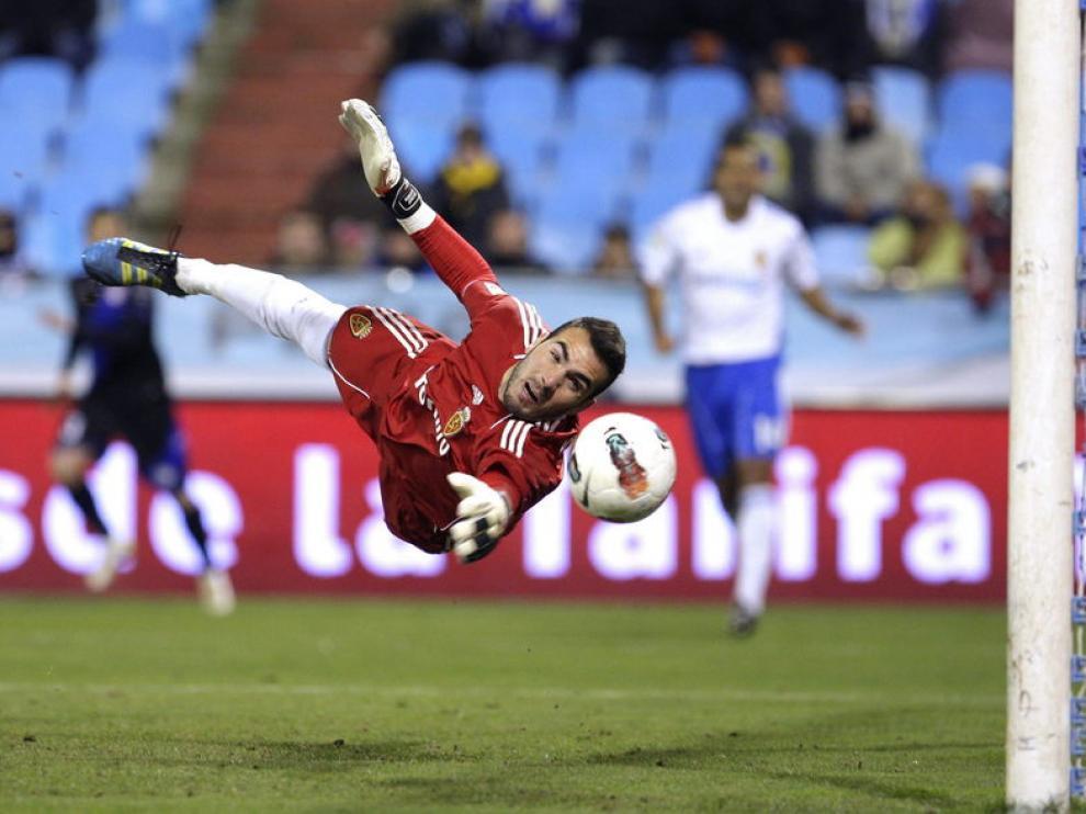 Roberto, en el partido contra el Rayo