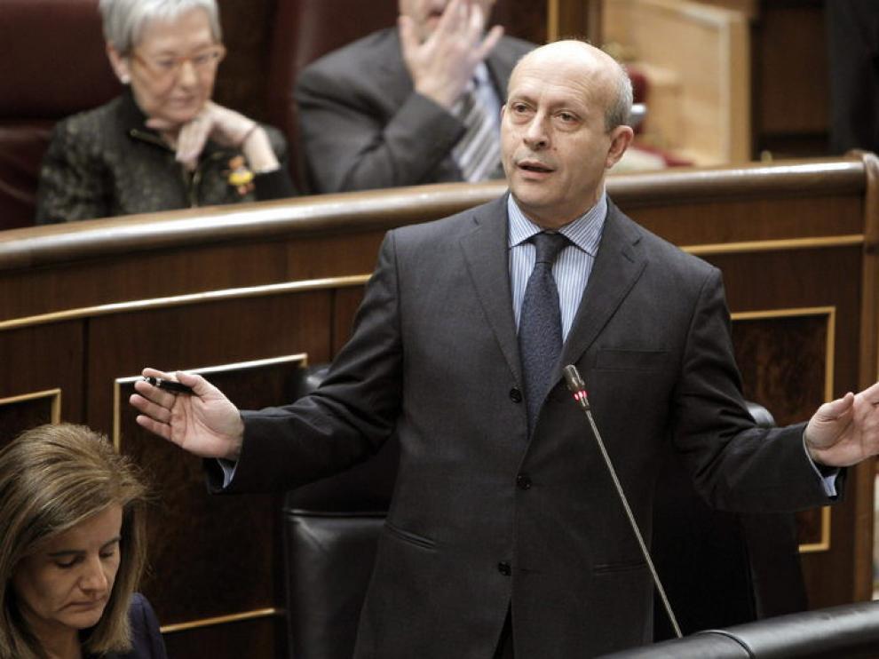 Iamgen de archivo del ministro de Educación, Cultura y Deporte, José Ignacio Wert.