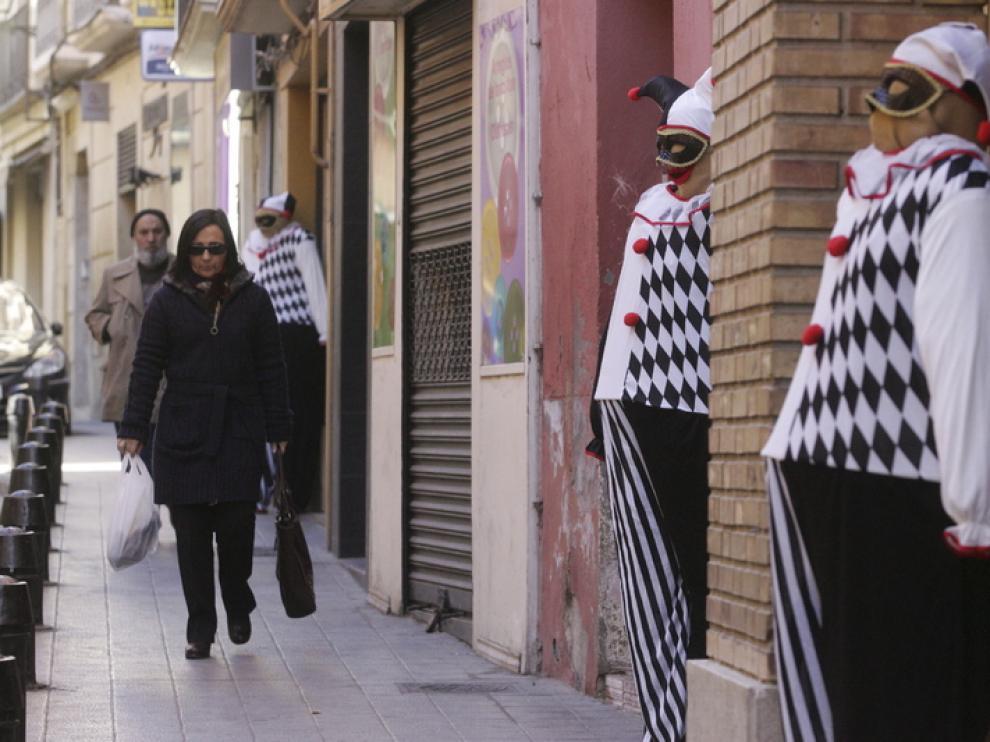 Decoración de los comercios de la calle Goya