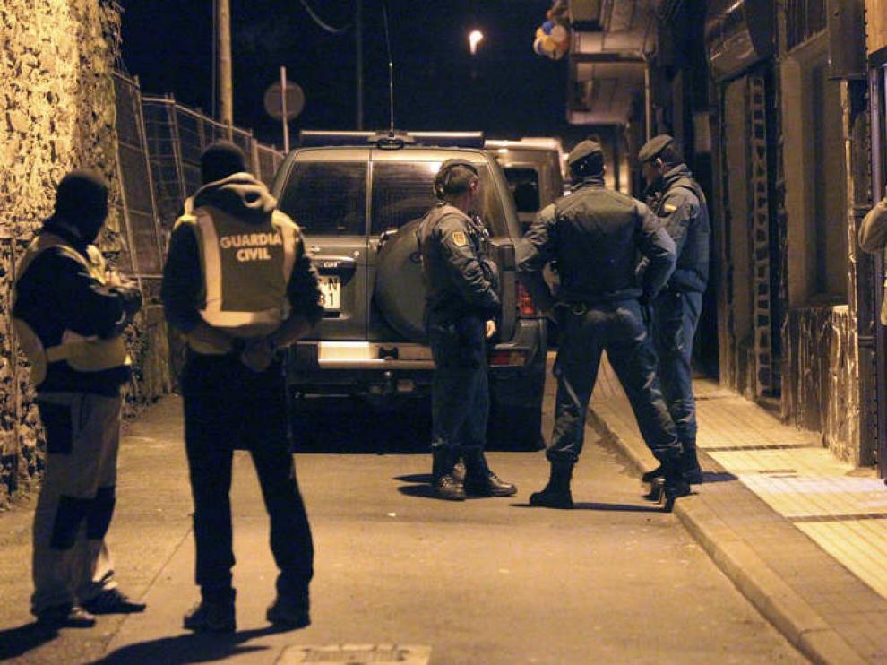 Operación policial en Andoain