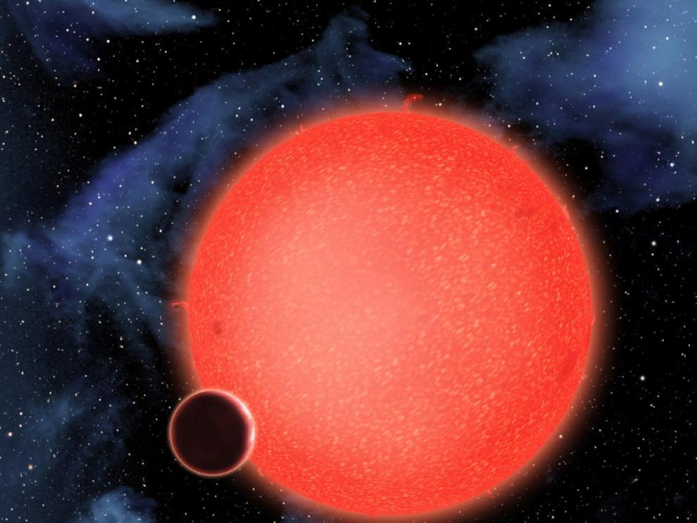 Orbita cerca de una estrella enana roja