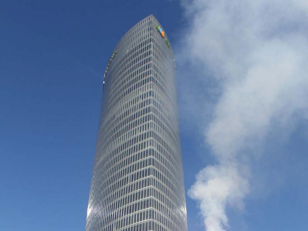 Protestas ecologistas ante la torre Iberdrola
