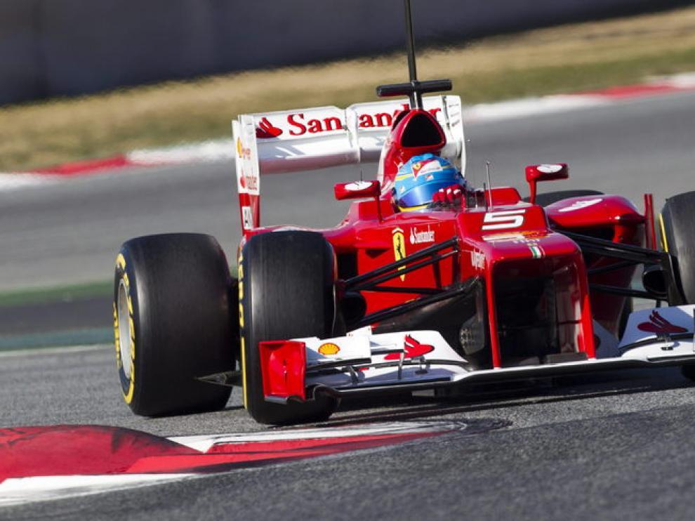 Alonso durante los entrenamientos