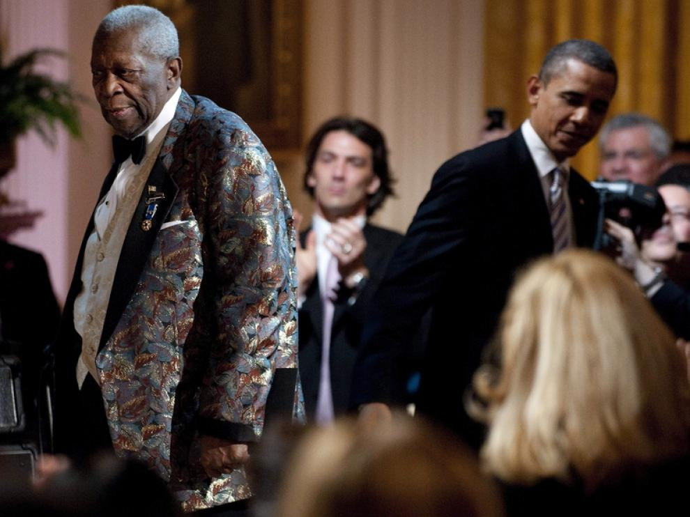 BB King y Barack Obama
