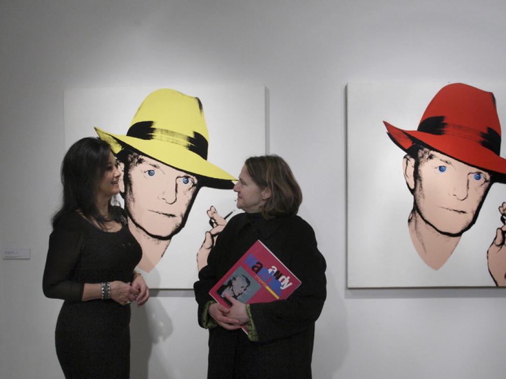 Estrella de Diego en la exposición 'Andy Warhol. Portraits'.