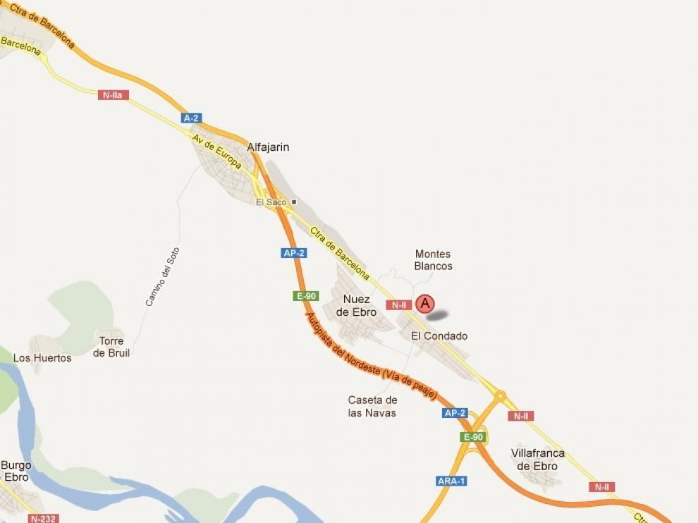 Punto kilométrico donde se produjo el accidente