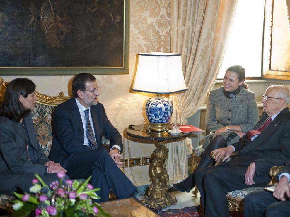 Rajoy recibido por el presidente de Italia