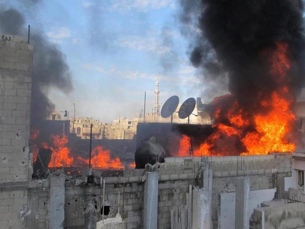 Bombardeo de las fuerzas gubernamentales en Siria