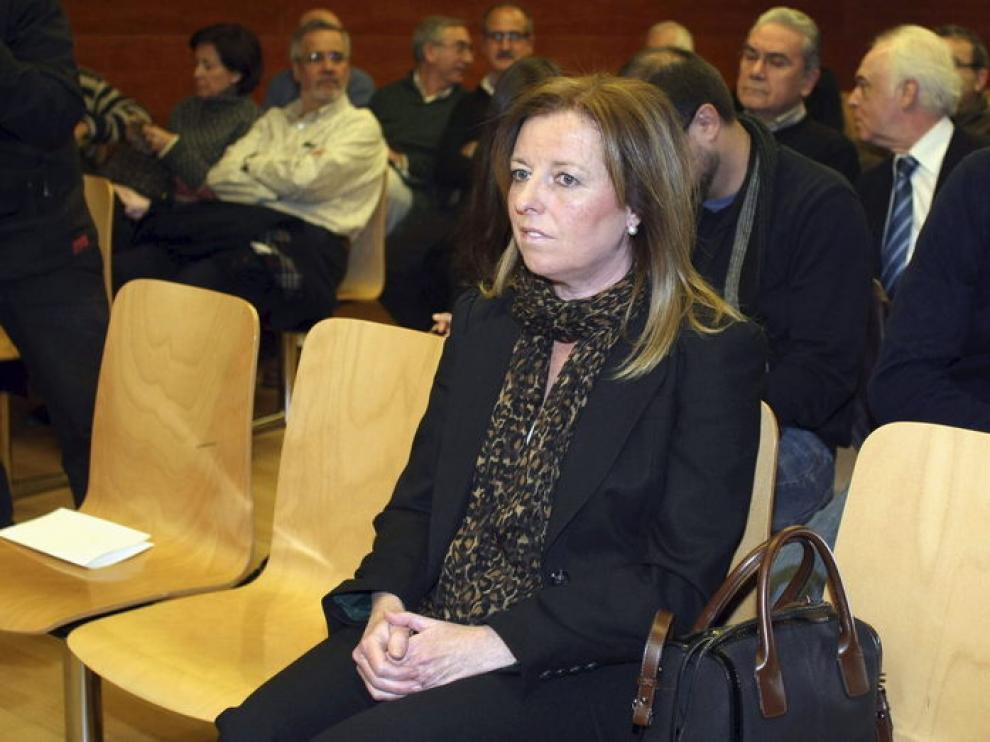 María Dolores Amorós en el juzgado de lo Social número 4 de Alicante
