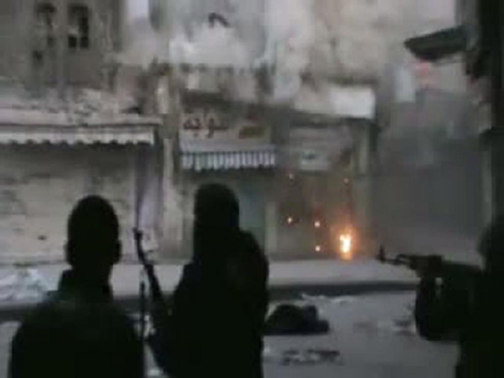 Imagen de este jueves de las calles de Homs
