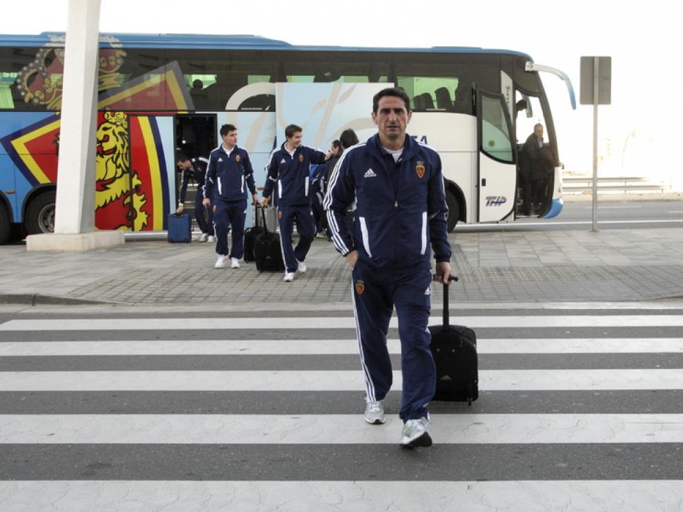 Jiménez, en la estación, rumbo a Málaga