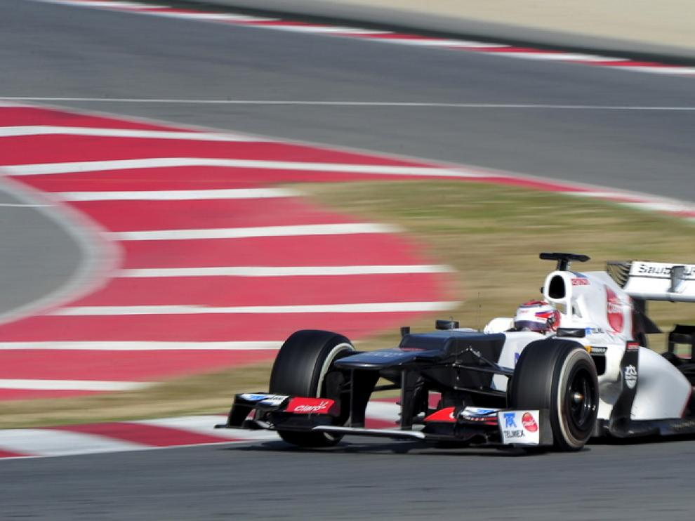 Kobayashi, en el circuito de Cataluña