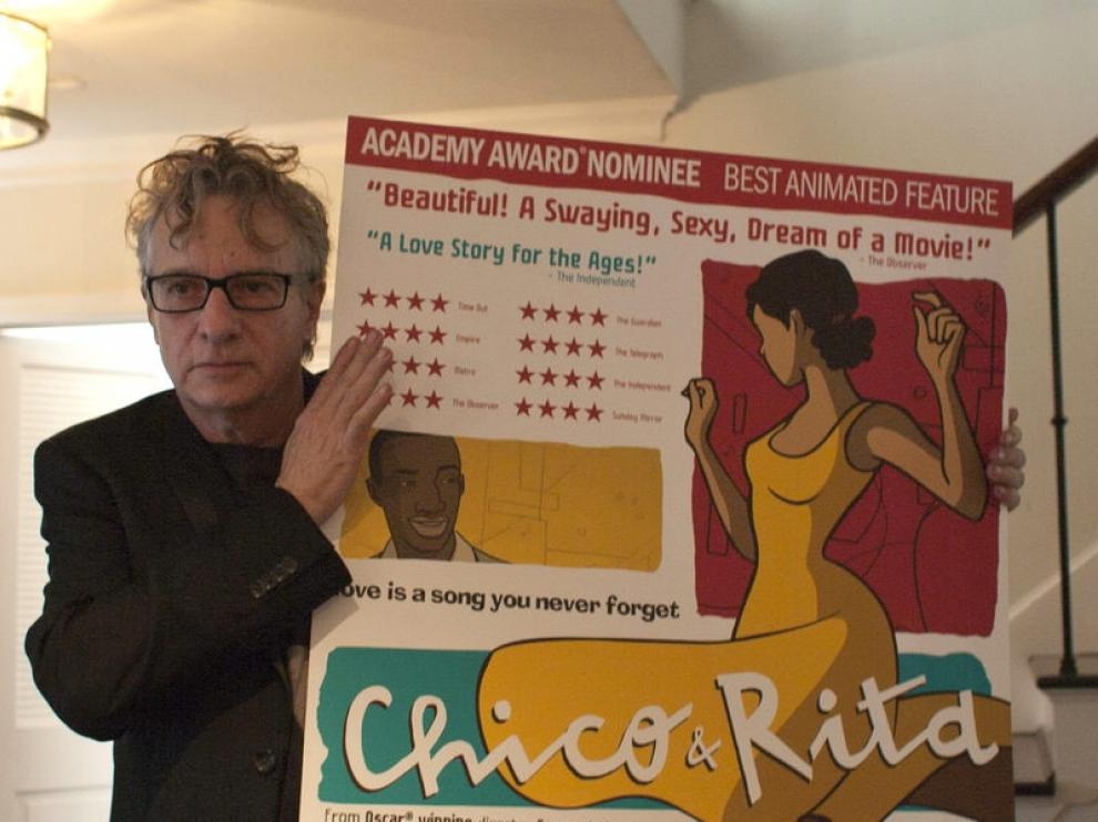 El codirector de 'Chico y Rita' durante una rueda de prensa celebrada en Beverly Hills.
