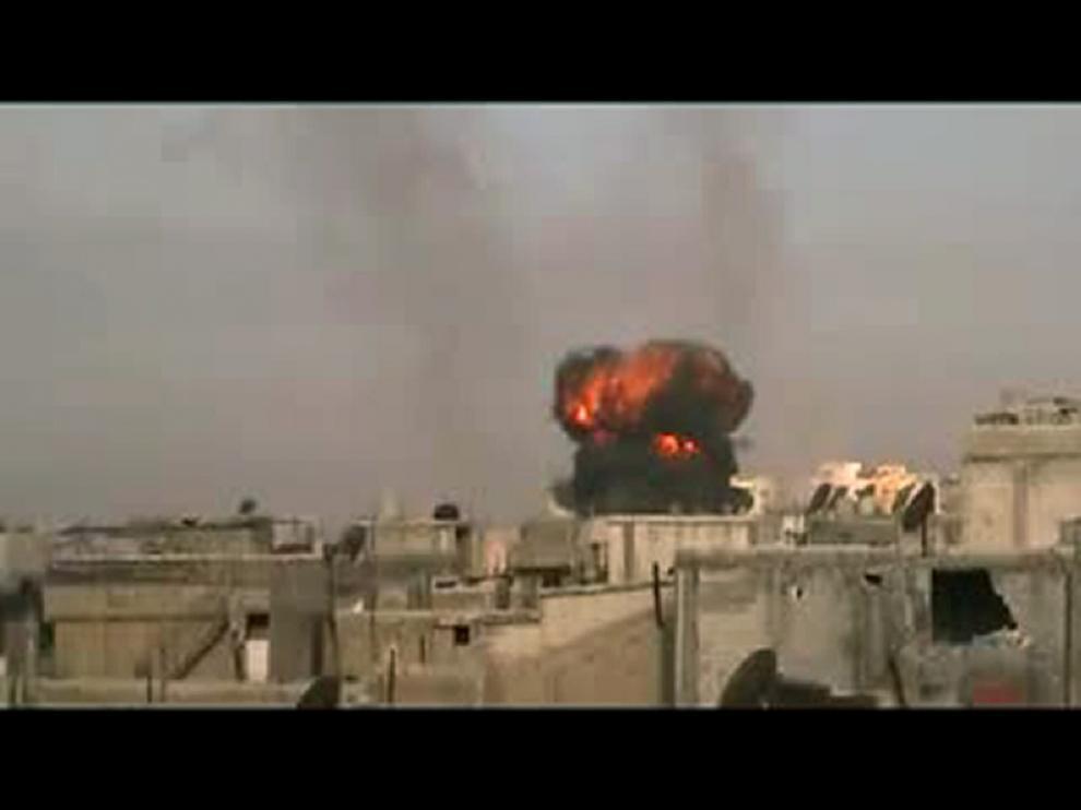 Imagen de los ataques a Homs este sábado
