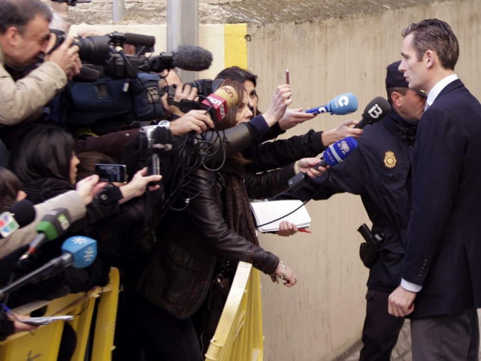 Iñaki Urdangarin ha hablado con los medios antes de entrar a los Juzgados