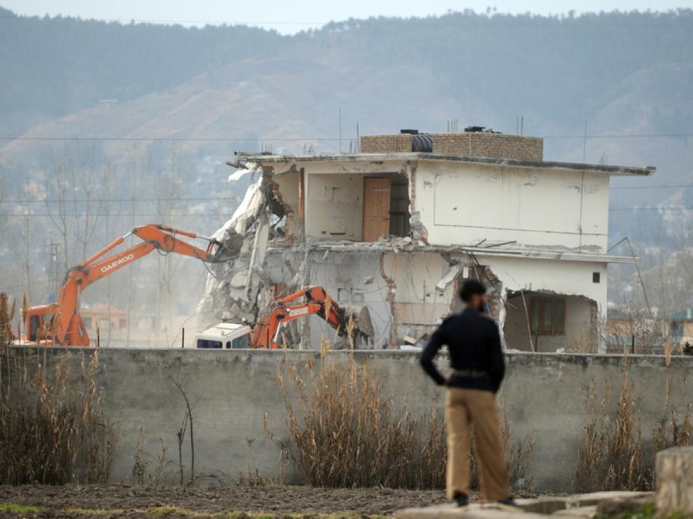 Demolición de la casa de Bin Laden
