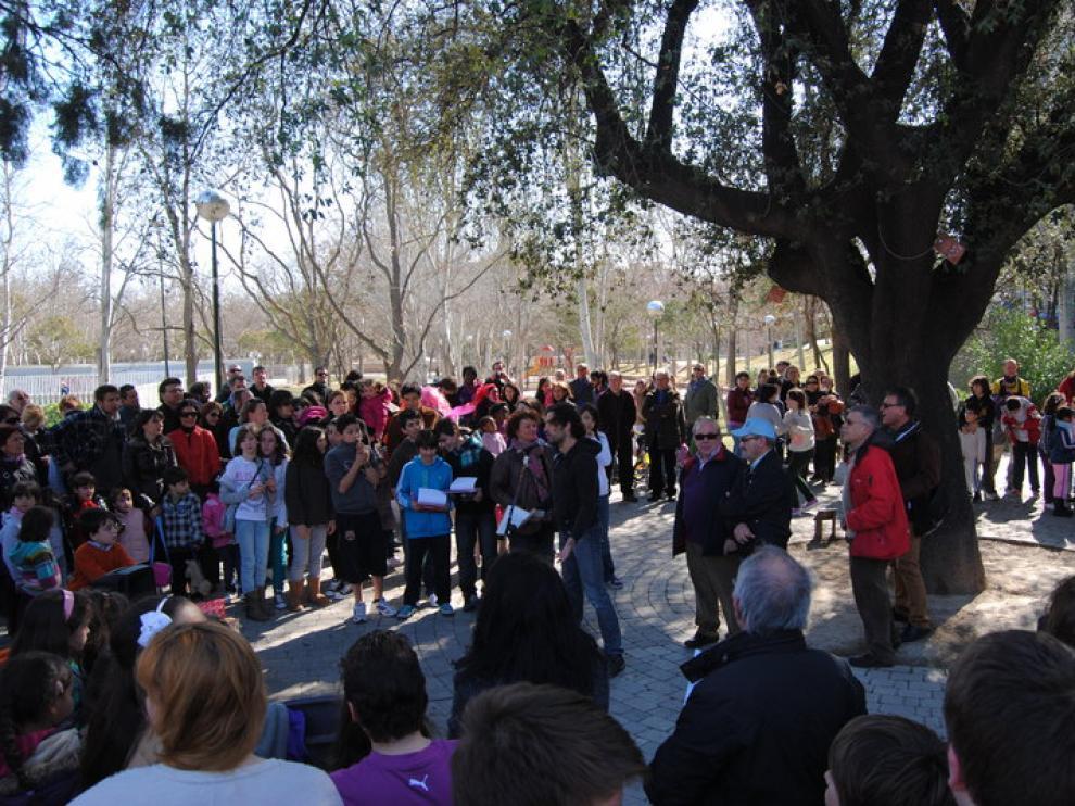 La encina del parque Bruil es un ejemplar único en Zaragoza.