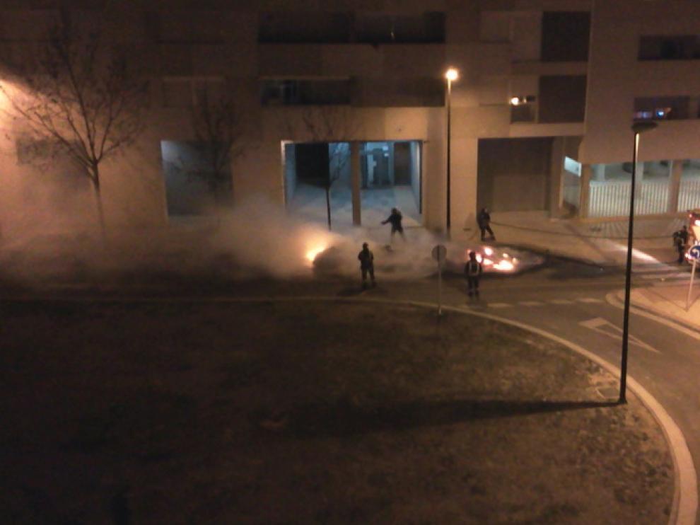 Imagen del fuego en Rosales del Canal