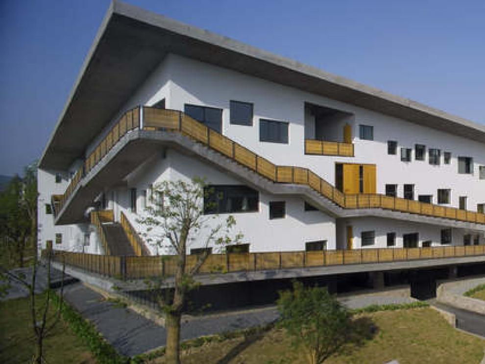 Un edificio del nuevo premiado