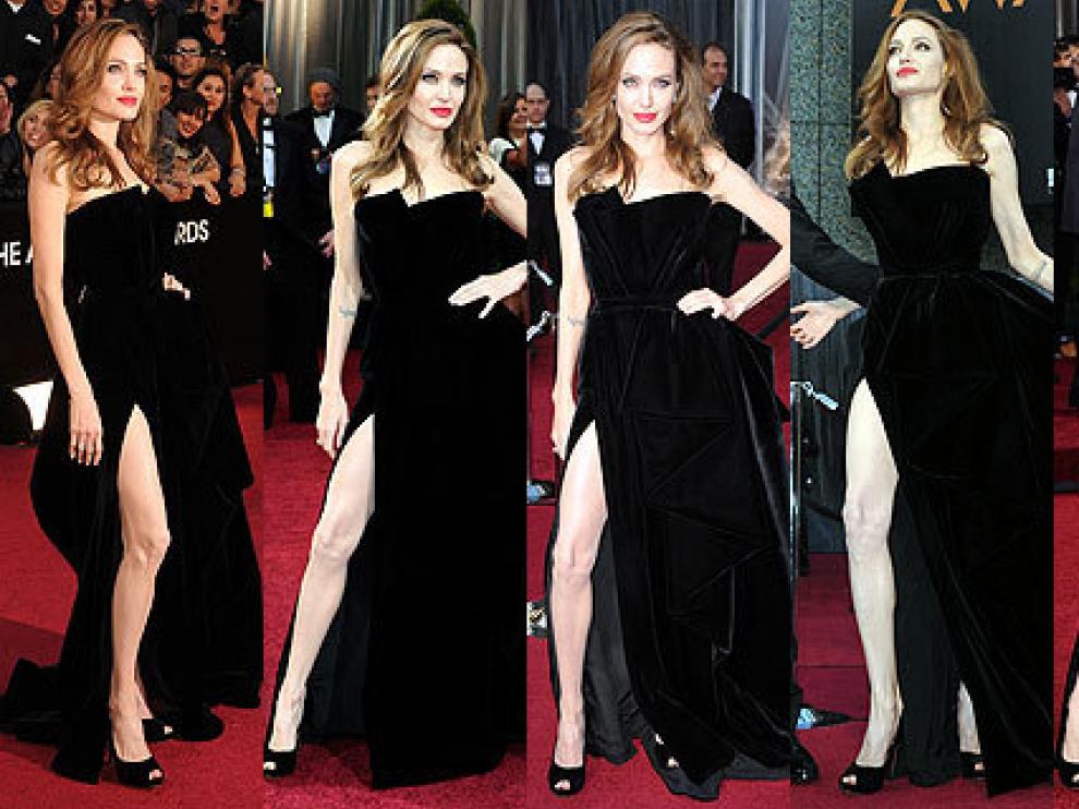 Angelina Jolie y su pierna
