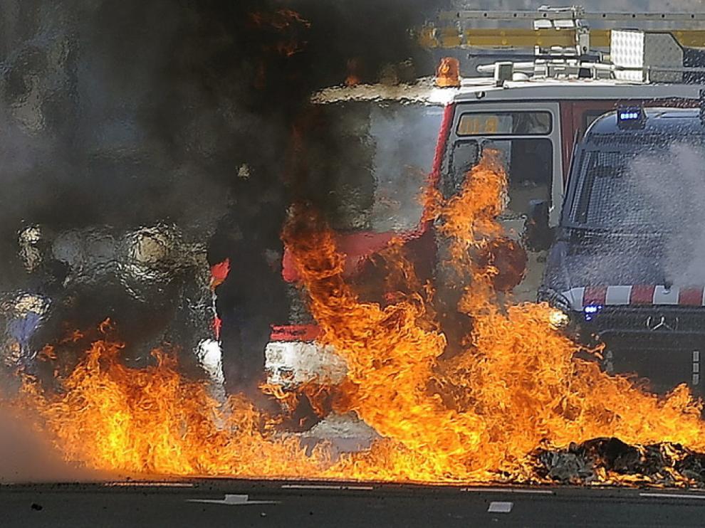 Protestas estudiantiles en Barcelona