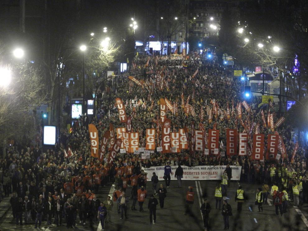 La manifestación contra los recortes sociales ha reunido a cientos de miles de españoles.