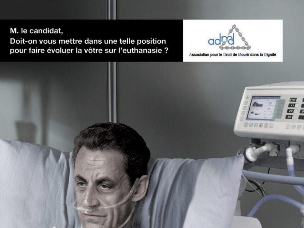 Fotomontaje de Nicolas Sarkozy