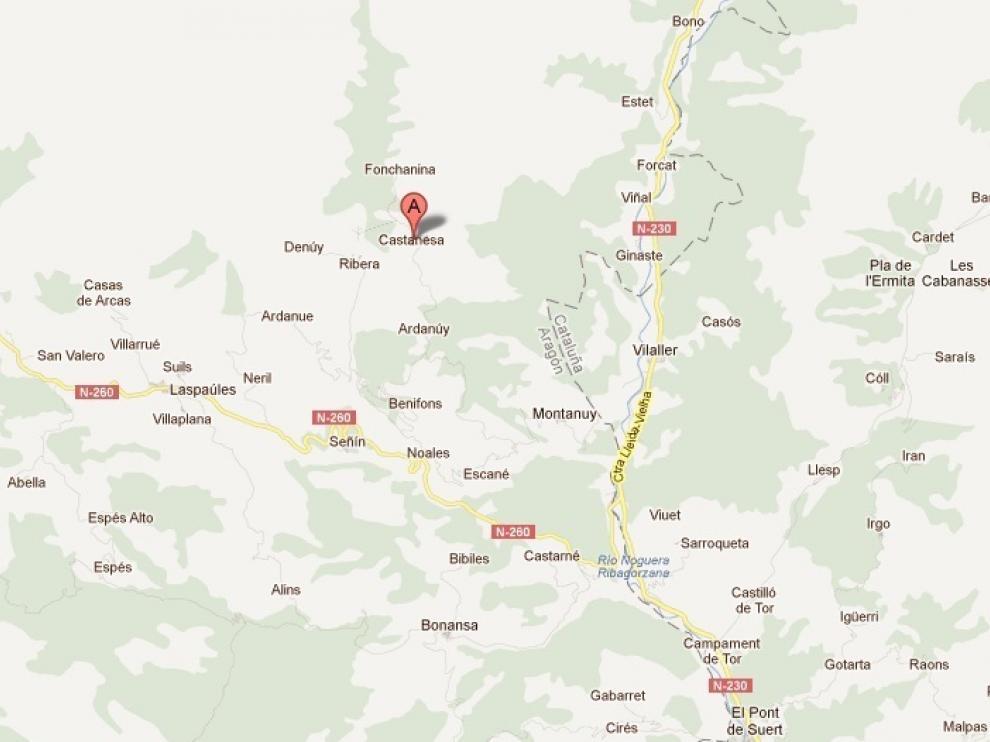 Localización de los tres municipios