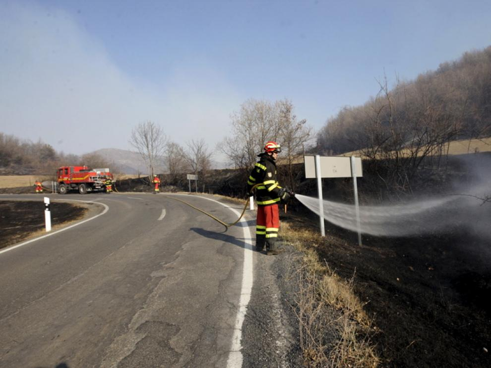 Incendio en Castanesa