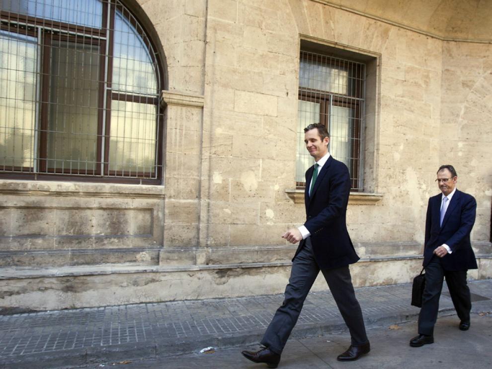 Urdangarin y su abogado, Mario Pascual Vives