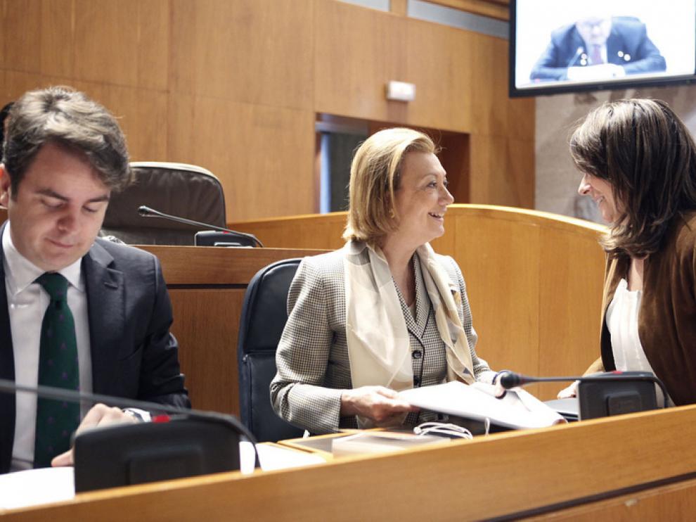 La presidenta Rudi en las Cortes