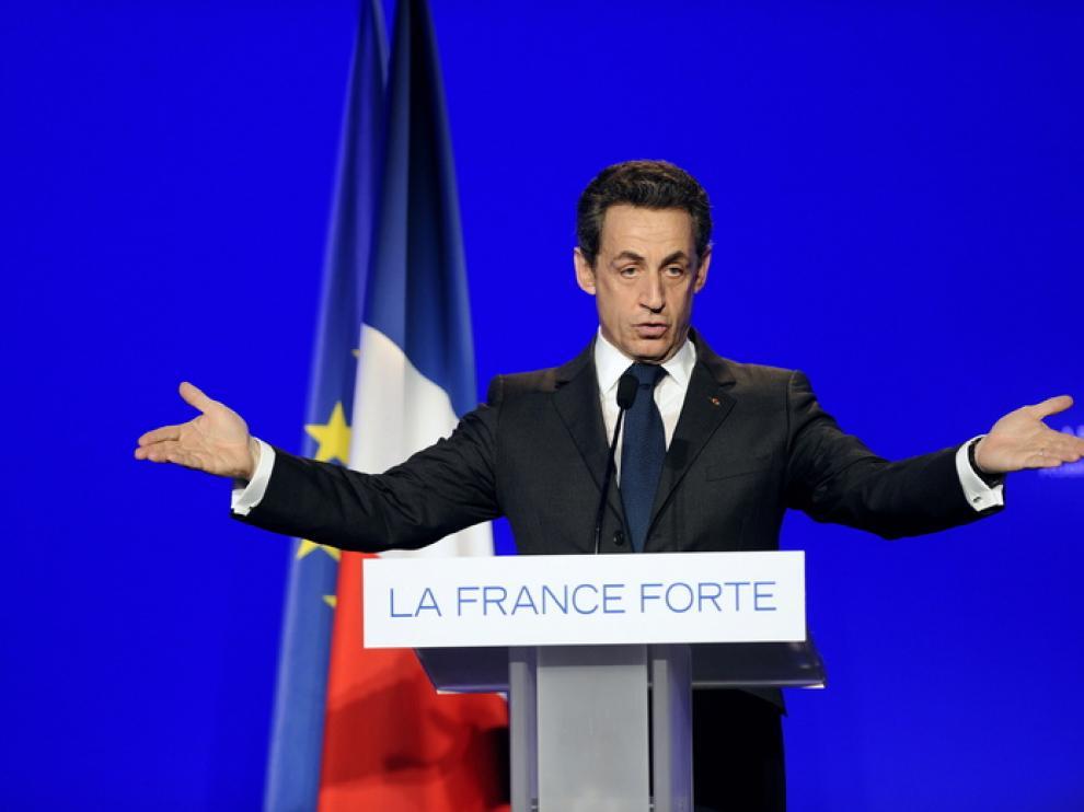 El presidente y candidato, Nicolas Sarkozy