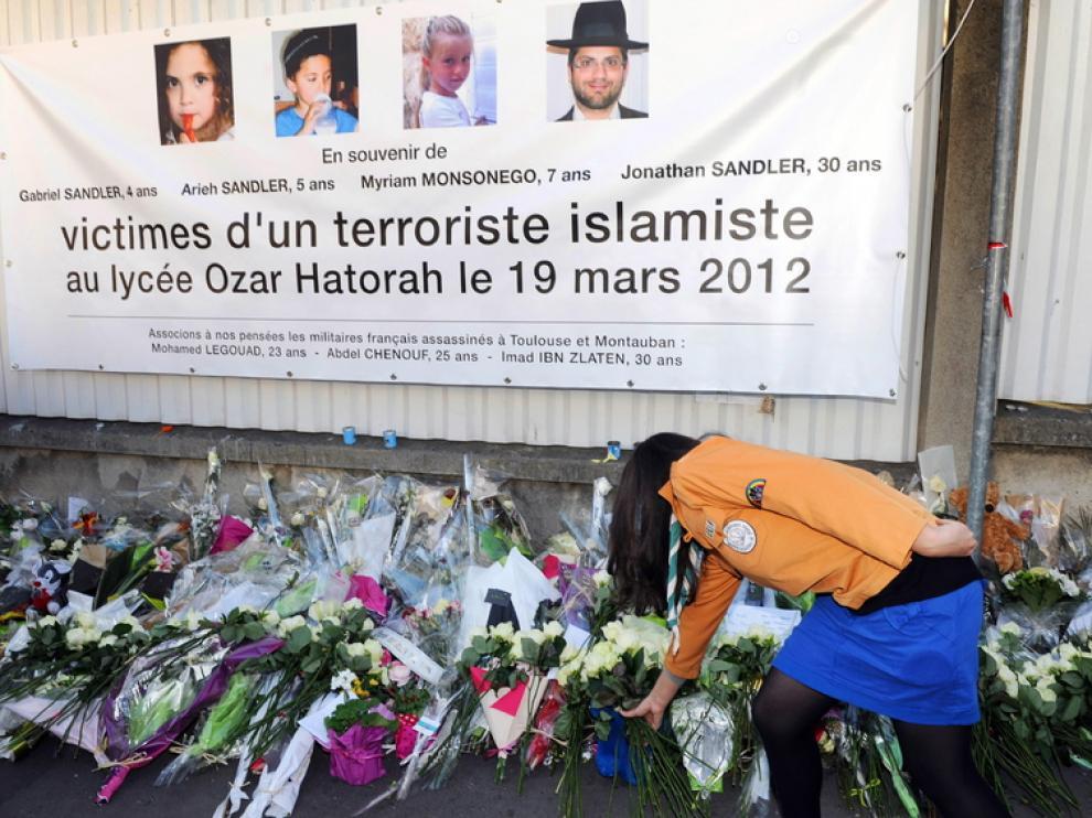Homenaje a los fallecidos en Toulouse
