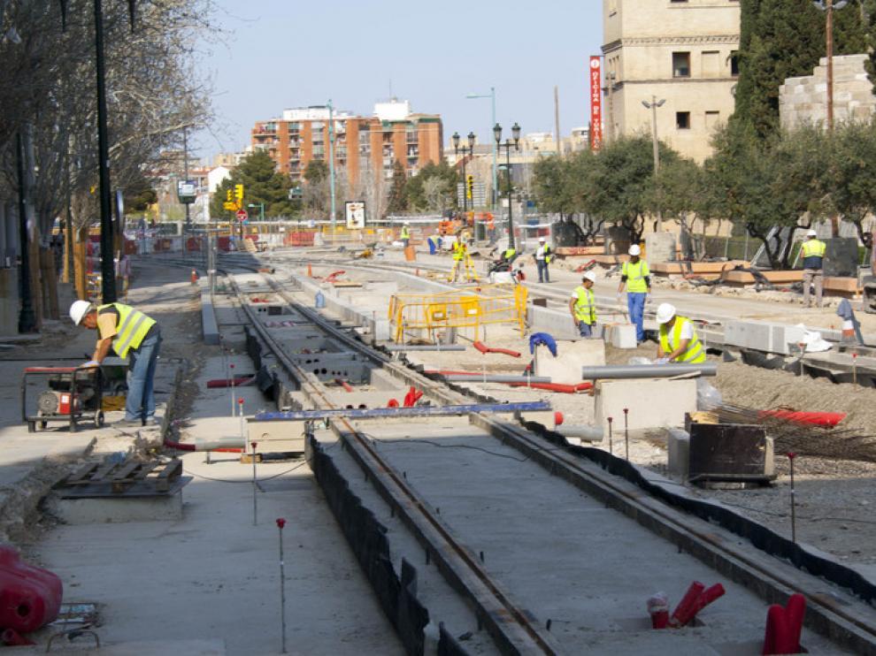 Las obras permitirán la salida hacia el paseo Echegaray