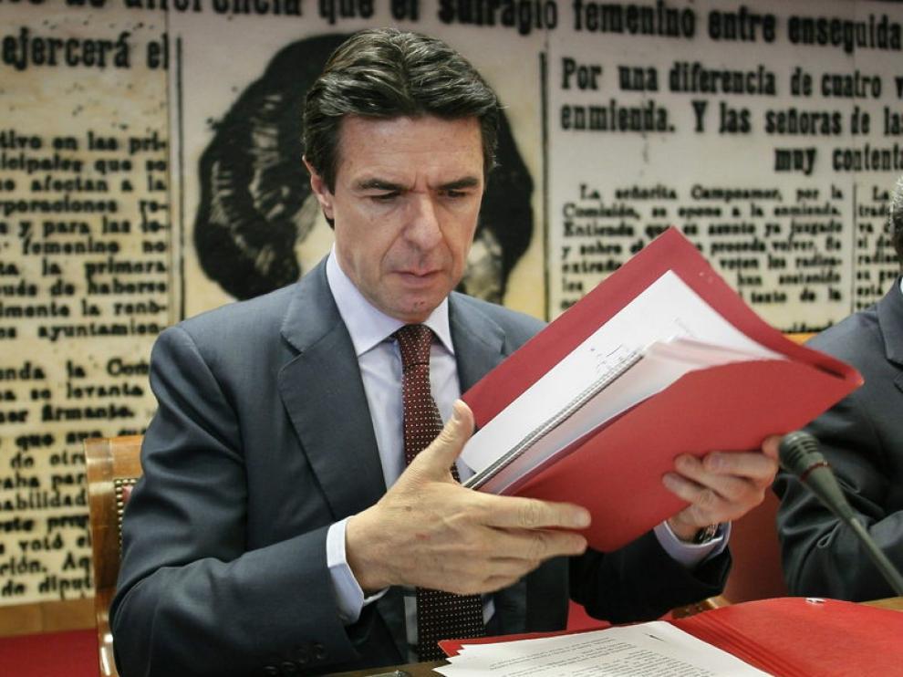 José Manuel Soria durante comparecencia de este miércoles en el Senado.