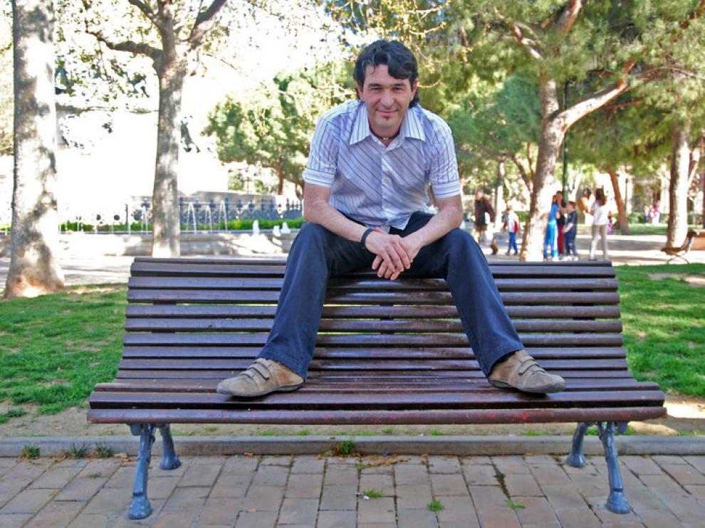 Bernal, en la plaza de los Sitios de Zaragoza