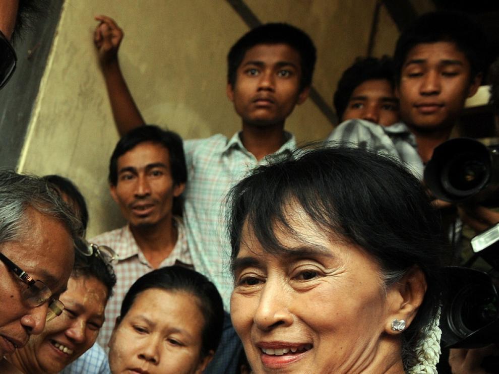 La opositora Suu Kyi