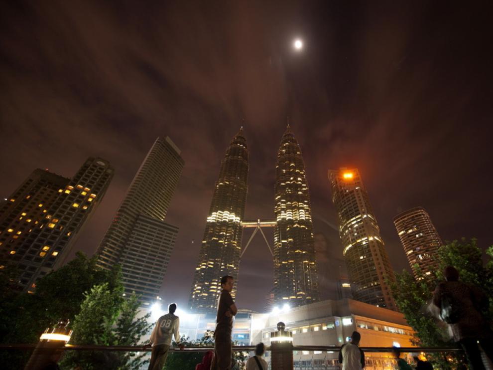Imagen de las Torres Petronas en Malasia.