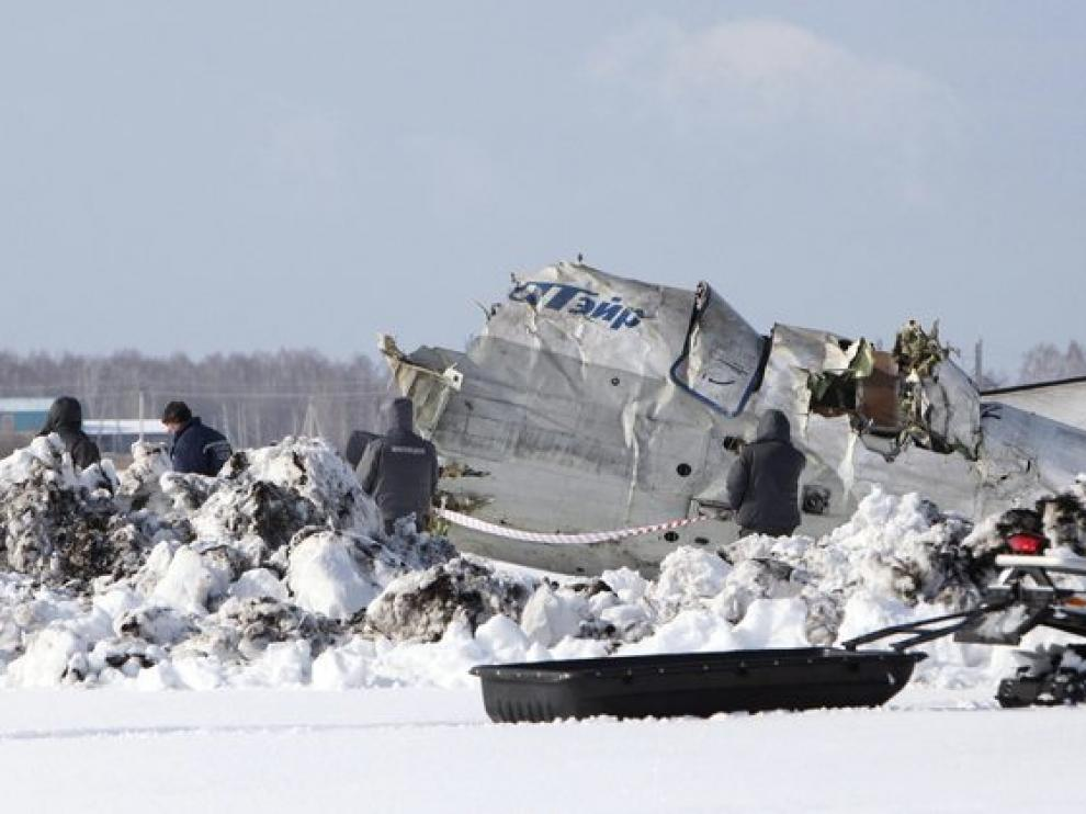 Avión siniestrado en Siberia