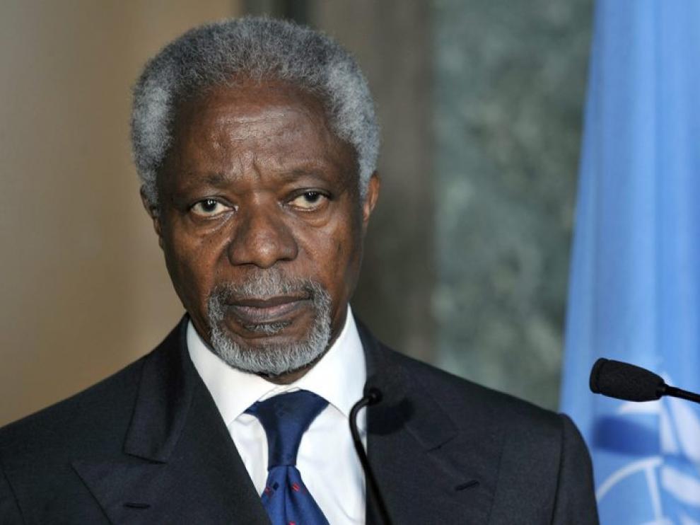 El enviado especial de la ONU y la Liga Árabe a Siria, Kofi Annan