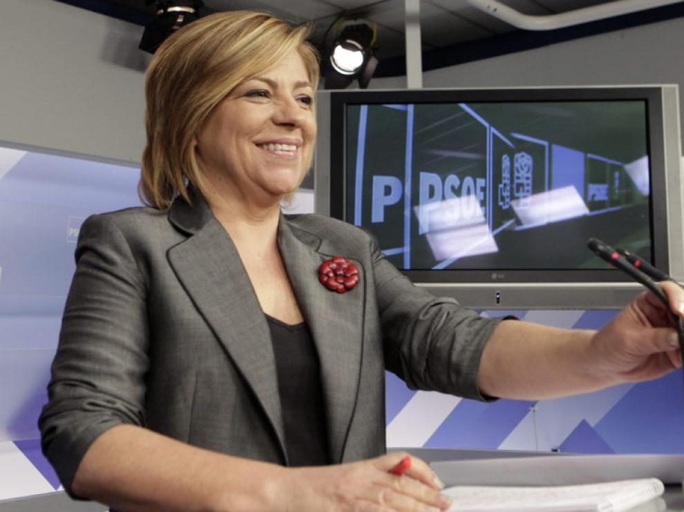 Elena Valenciano, en rueda de prensa