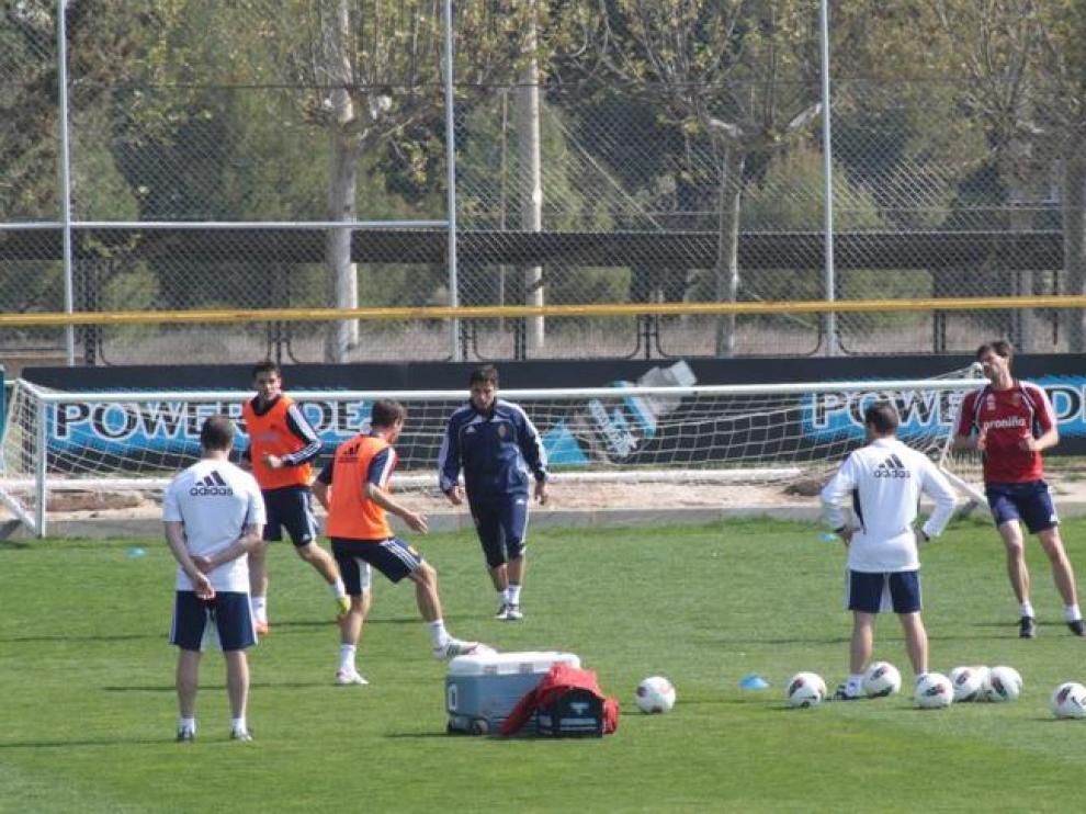 Entrenamiento del Real Zaragoza