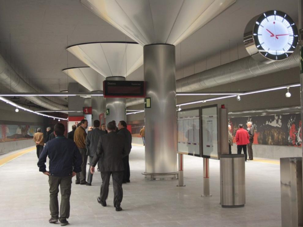 Inauguración de la estación Goya