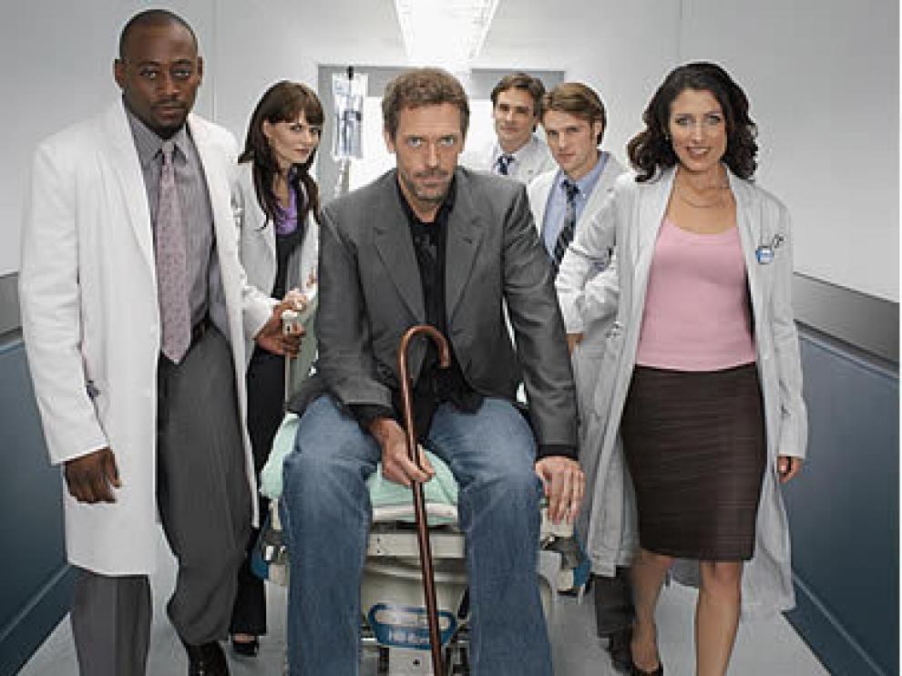 El reparto de la serie 'House'.